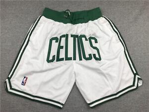 Boston Celtics Shorts  White All Stitched