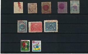 COLOMBIA, COAT OF ARMS- LAC-   Cancels 'RED  10  >> 1866-1960