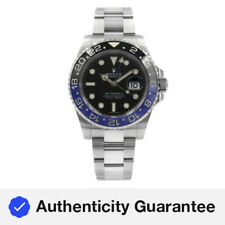 Rolex GMT Master II Black Dial Ceramic Batman Bezel Steel Mens Watch 116710BLNR