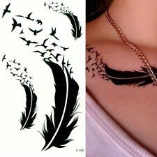 Temporäre Tattoos Feder Vogel Design Temporary Körperkunst Klebetattoo