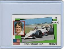 1988 PANINI SUPERSPORT ITALIAN EDDIE CHEEVER STICKER CARD #14 ~ FORMULA ONE USA