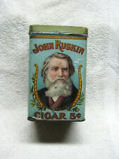 ANTIQUE JOHN RUSKIN CIGAR TIN