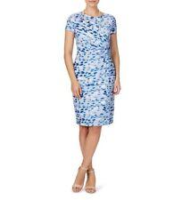 W LANE designer Blue/green lined DRESS  new with tag RRP $99 - size XL-16