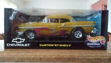 HOT WHEELS 1/18 SCALE CUSTOM '57 CHEVY DIECAST CAR