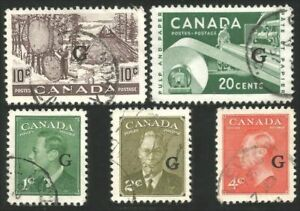 Canada #O26-O44 Official 5 different used stamps (64)