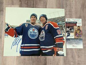 JSA Paul Coffey Signed 8x10 Photo COA HOF Edmonton Oilers Wayne Gretzky A