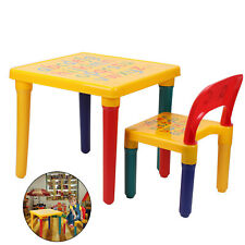 ABC Alphabet Children Plastic Table and  One Chair Set Gift - Kids Toddlers UK