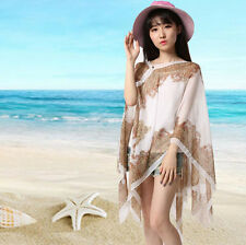 Fashion Summer Sexry Women Chiffon Beach Dress Bikini Swimwear Cover Up Scarf