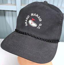 Grand Marais Golf Club Strapback Black Baseball Cap Hat Derby Made In USA