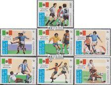 Laos 813-819 (complète edition) neuf avec gomme originale 1985 Coupe du monde 19