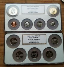 2005 USA Proof Set NGC-certified HUGE SLABS all PF-69 11-coin set in two holders