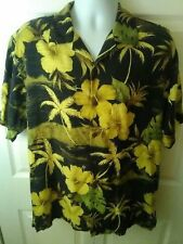 TOMMY BAHAMA - Men's Medium (M) Floral 100% Silk Button Down Camp Shirt - EUC