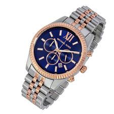 100% New Michael Kors Men's Lexington Two-tone Multifunction 45mm Watch MK8412