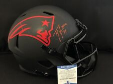 TYl Law HOF Autographed Signed New England Patriots Eclipse FS Helmet - BAS