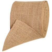 Burlap Hessian Roll Ribbon 10cm x 10m Jute Natural Fabric Material Craft