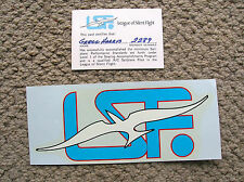 vintage 1970s lsf sail plane card and water slide decal flying surfing airplane
