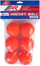 A&R Sports 6 Pack Low Bounce Street Hockey Balls, 60*+ Warm Weather, Orange