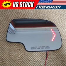 Mirror Glass Heated Turn Signal Passenger Side Rh for 03-2007 Chevy Gmc Cadillac (Fits: Cadillac)
