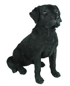 Labrador Figur schwarz Bolle Gartenfigur Hund Garten lebensechte Hundefigur