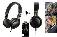 PHILIPS HEADPHONES TORTOISE SHELL FRAMES w/ MIC CITISCAPE HIGH PRECISION HEADSET