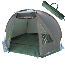 CARP FISHING 2 MAN BIVVY DAY SHELTER TENT WATERPROOF QUICK ERECT