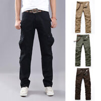 Men's Casual Tactical Overalls Long Pants Military Leisure Cargo Combat Trousers