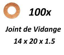 100x JOINT DE VIDANGE 14x20x1.5 PEUGEOT 205 II (20A/C) 1.9 Diesel 64ch
