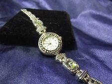 Woman's Lexington Watch with Mother of Pearl Face and Abalone on Band B39-518