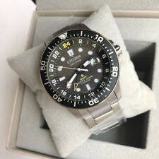 Citizen Promaster Diver Watch * BJ7110-89E Black Dial Titanium Case and Strap