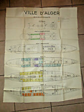 plan des pont du PAQUEBOT VILLE D'ALGER