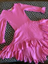 Chasing Fireflies Lemon Loves Lime Pink Ruffle Dress And Leggings.  Size 8