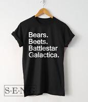 Mens T Shirts The Office Bears Beets BattleStar Galactica Shirt Dwight Schrute