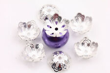 50/300pcs Filigree Flower Metal Spacer Bead Caps Jewelry Finding 8/9/10/14/16mm