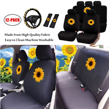 Universal Four-Season Full Set Car Seat Cover Cushions w/Steering Wheel Cover