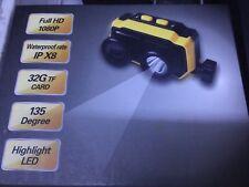 Full HD 1080P Head Camera w/ LED Waterproof Rate IP X8 32G TF Card 135 Degree