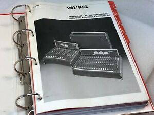 STUDER  961 /962  Audio Console Manual Original.