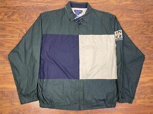 vintage nautica NKZ competition color block jacket XL Green/blue V2