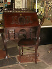 19th C Chippendale Mahogany Block Front Shell Carved Desk w   Ball   Claw Foot