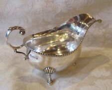 Antique English Sterling Silver Sauce Boat George Hape 1928