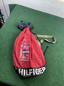 Vintage Tommy Hilfiger Sailing Gear Backpack Carry Bag sack large fast ship