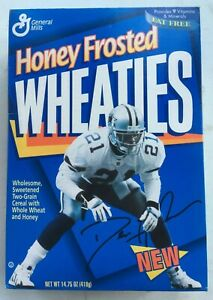1996 Dion Sanders Honey Frosted Wheaties Cereal Box NEW UNOPENED 14.75 oz.