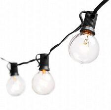Deneve Globe String Lights with G40 Bulbs (25ft.) - Connectable Outdoor Garden..