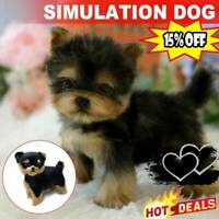 Realistic Yorkie Dog Simulation Puppy Lifelike Stuffed Companion Toy