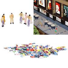 100PC 1:100 BUILDING LAYOUT MODEL PEOPLE FIGURE MINIATURE SCENE DECOR HOT ORNATE