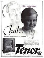 PUBLICITE TENOR SUPER POSTE SUPERHETERODYNE RADIO TSF ENFANT CHUT DE 1935 AD PUB
