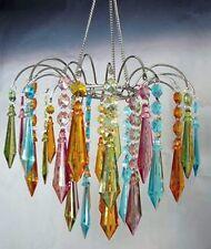 MultI Color Acrylic Large Prism Drop Chandelier w/Light Kit