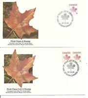 "Canada Scott # 907-908 Maple Leaf/Non Denominated ""A"" FDC .Fleetwood Cachet"