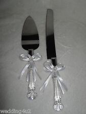 Wedding Party Reception  Elegant Cake Knife & Server Set White Bows