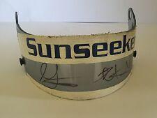 Leo and Greg Mansell Race Worn Signed Visor Formula 1 Very Rare.