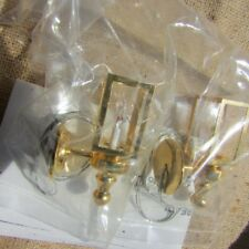 Dollhouse Lamps Light Coach Set of 2 Electric Brass Clare Bell Vintage